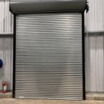City of Perry: Aluminum Raynor corrosion resistant coiling door for Municipal Wastewater Treatment Plant. Hand chain operated