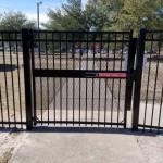 Pedestrian Gate with Panic Bar and audible alarm